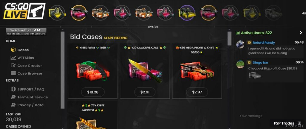 CSGOLive Case Opening